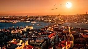 Обои Солнечный Стамбул: Город, Здания, Птицы, Турция, Прочие города