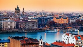 Обои Будапешт: Огни, Река, Город, Здания, Прочие города