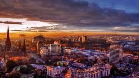 Обои Мельбурн Австралия: Облака, Город, Небо, Здания, Прочие города