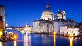 Обои Италия Венеция: Огни, Город, Ночь, Венеция, Италия, Прочие города