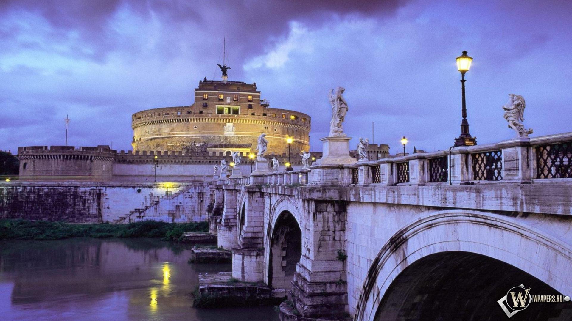 Италия рим мост замок италия рим