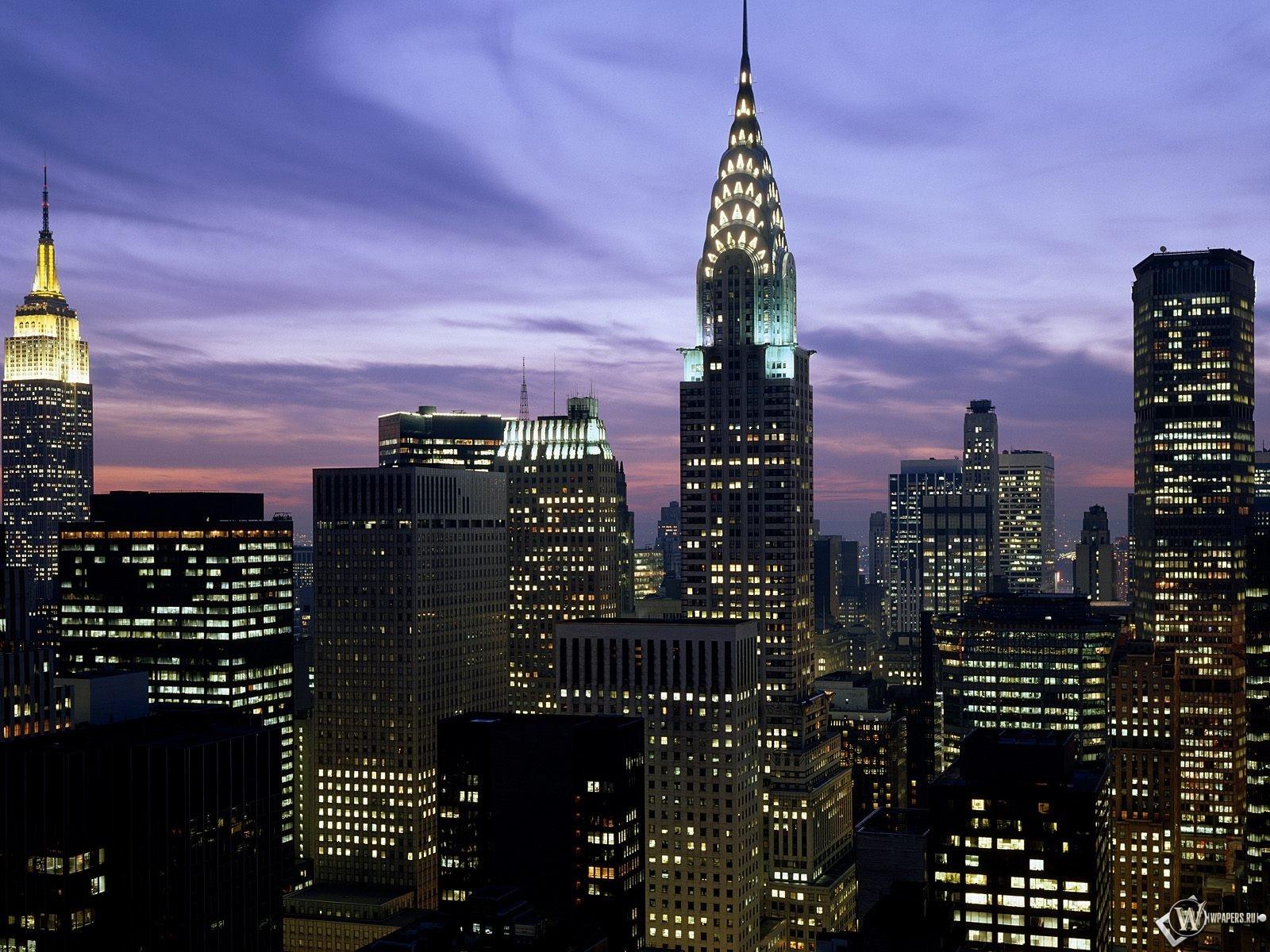 Обои вечерний new york нью йорк new york