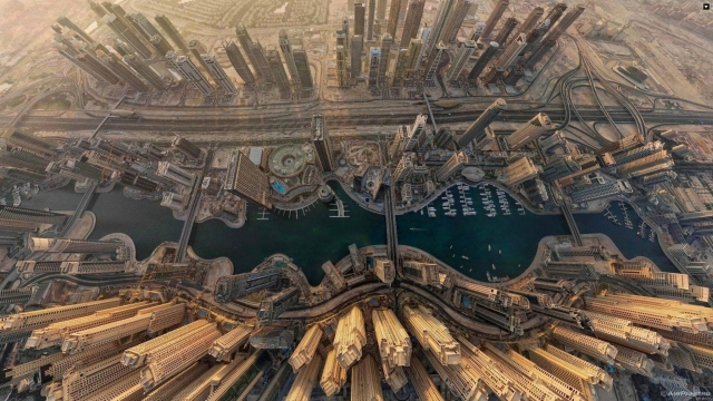 Dubai  вид сверху