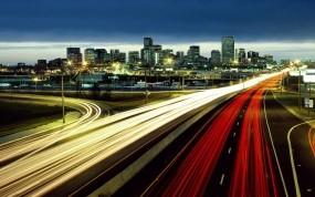 Обои США - Колорадо: Город, Трасса, Дороги, США, Колорадо, Прочие города