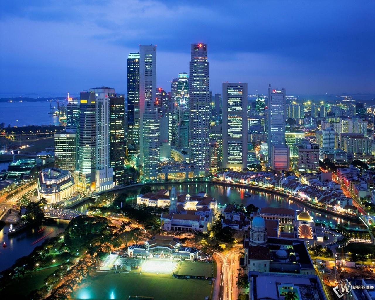 Aerial View - Singapore 1280x1024