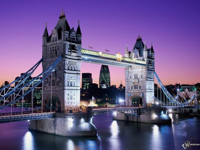 Обои тауэрский мост англия