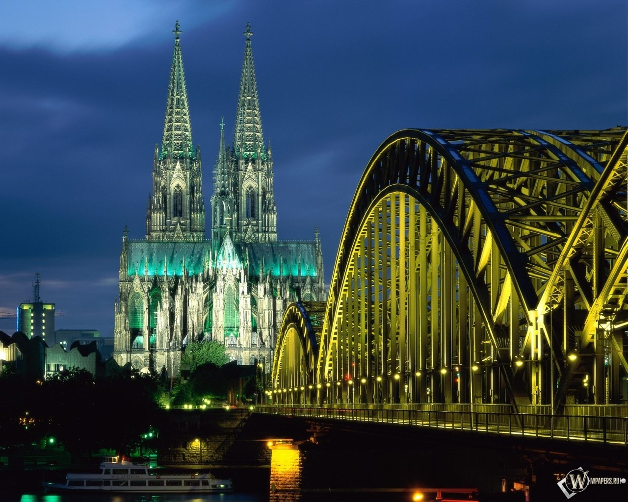 Cologne Cathedral and Hohenzollern Bridge Cologne - Germany 1280x1024
