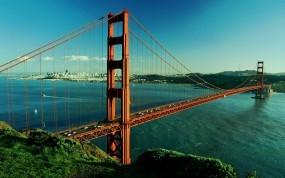 Обои Золотые ворота: Река, Мост, Золотые ворота, Сан-Франциско, Прочие города