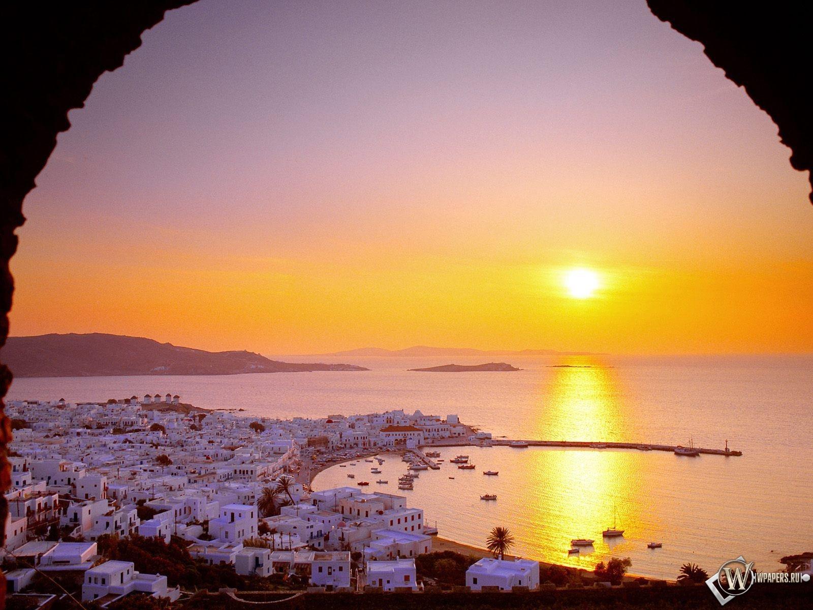 Домики в Греции 1600x1200