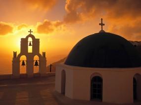 Обои Колокольня в Греции: Церковь, Колокольня, Греция, Прочие города