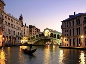 Обои Вечерняя Венеция: Мост, Вечер, Венеция, Италия, Прочие города