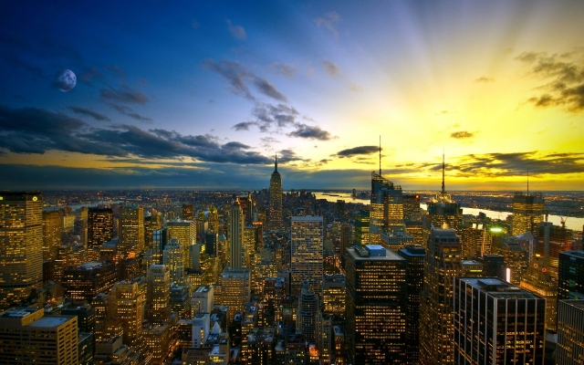 Вечернее небо над Городом
