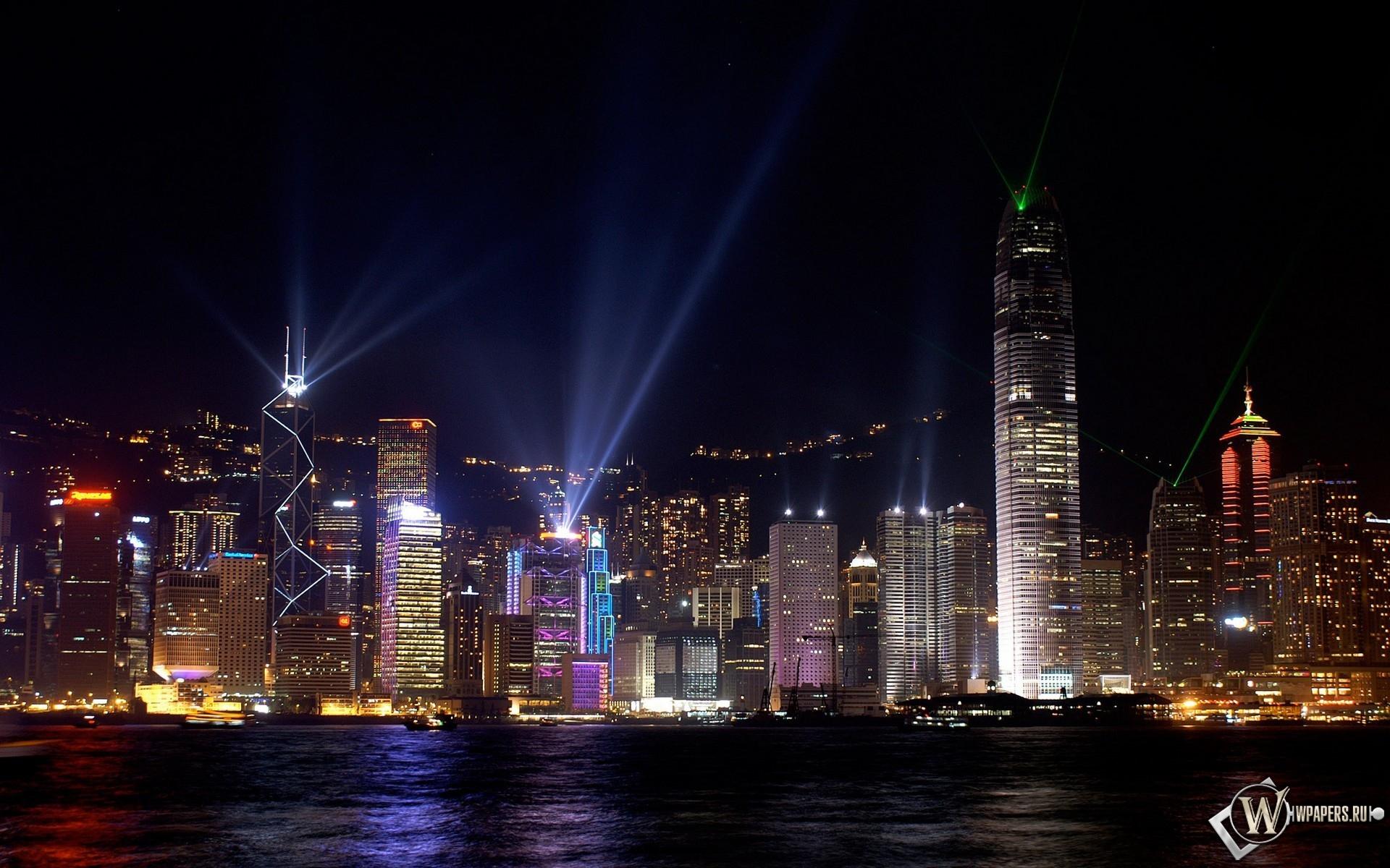 Ночьной Гонконг 1920x1200