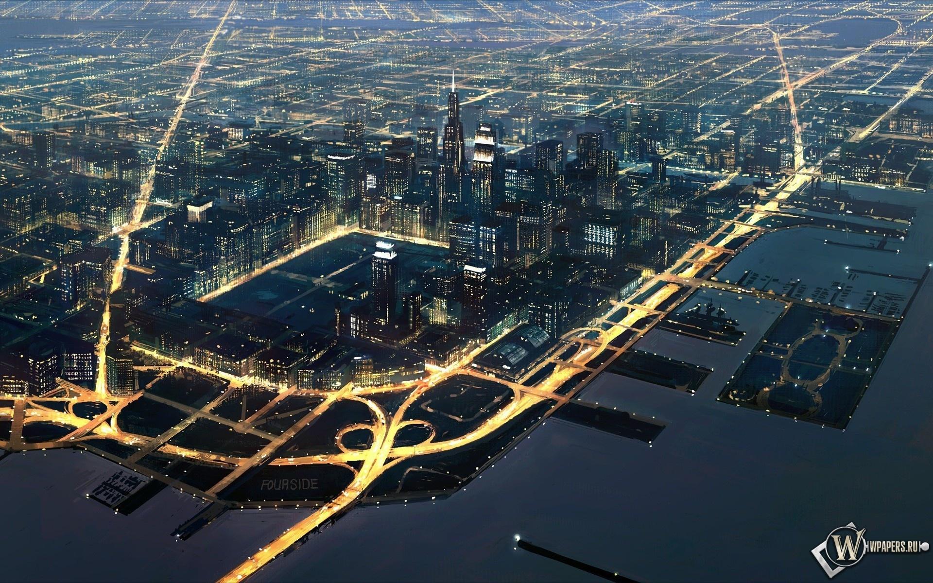 вид города с верху 1920x1200