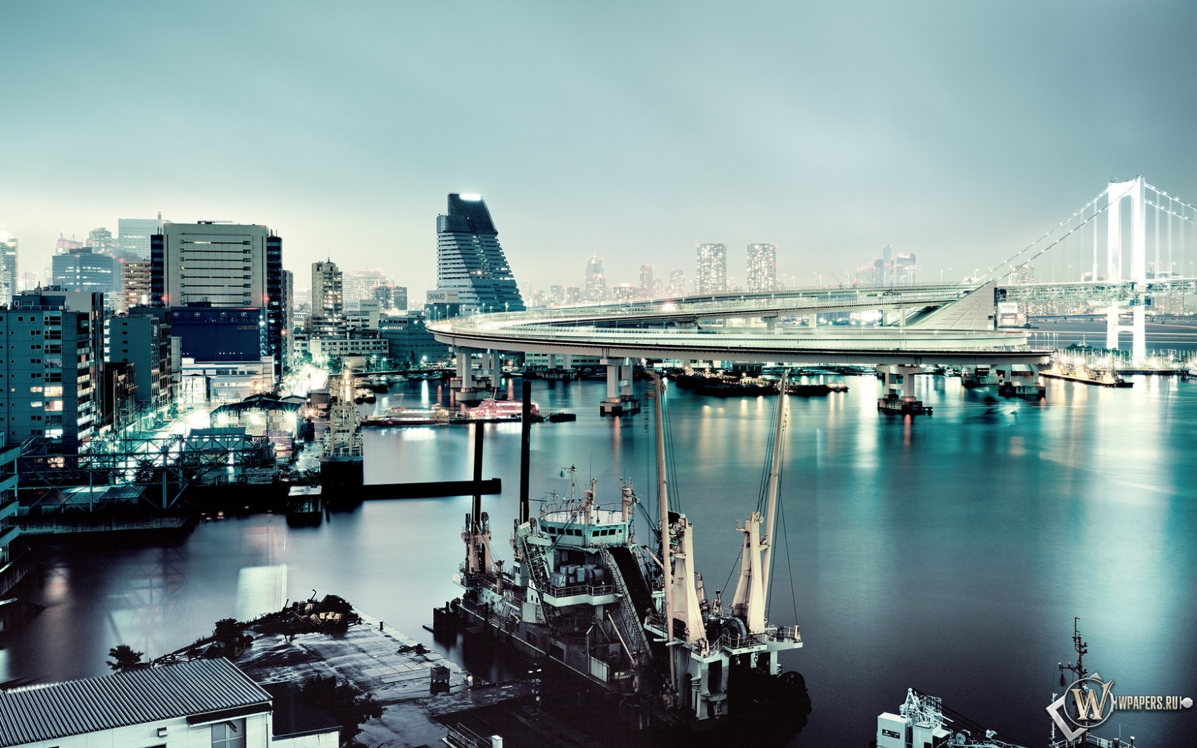 Обои япония вода мост япония