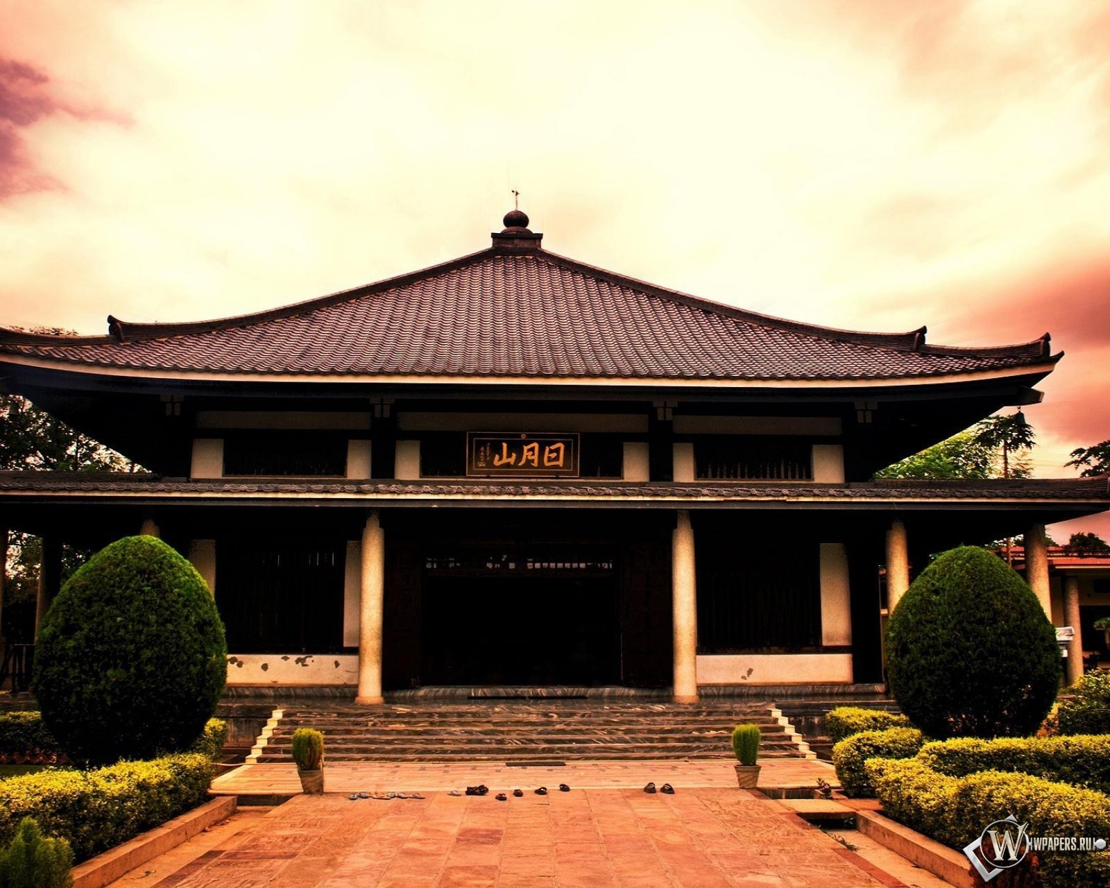 Обои япония здание небо япония