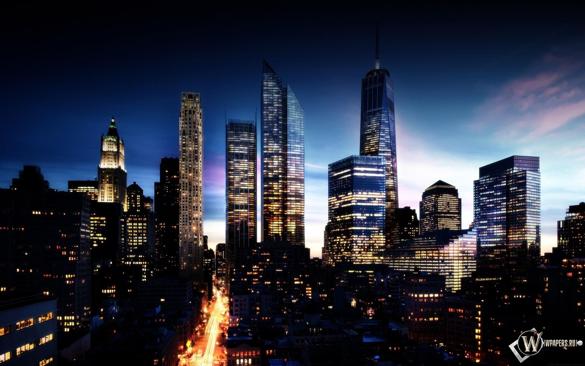 Манхэттен в будущем 1920x1200