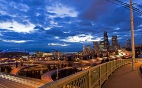 Обои городской мост: Мост, Мегаполис, Дороги, Прочие города