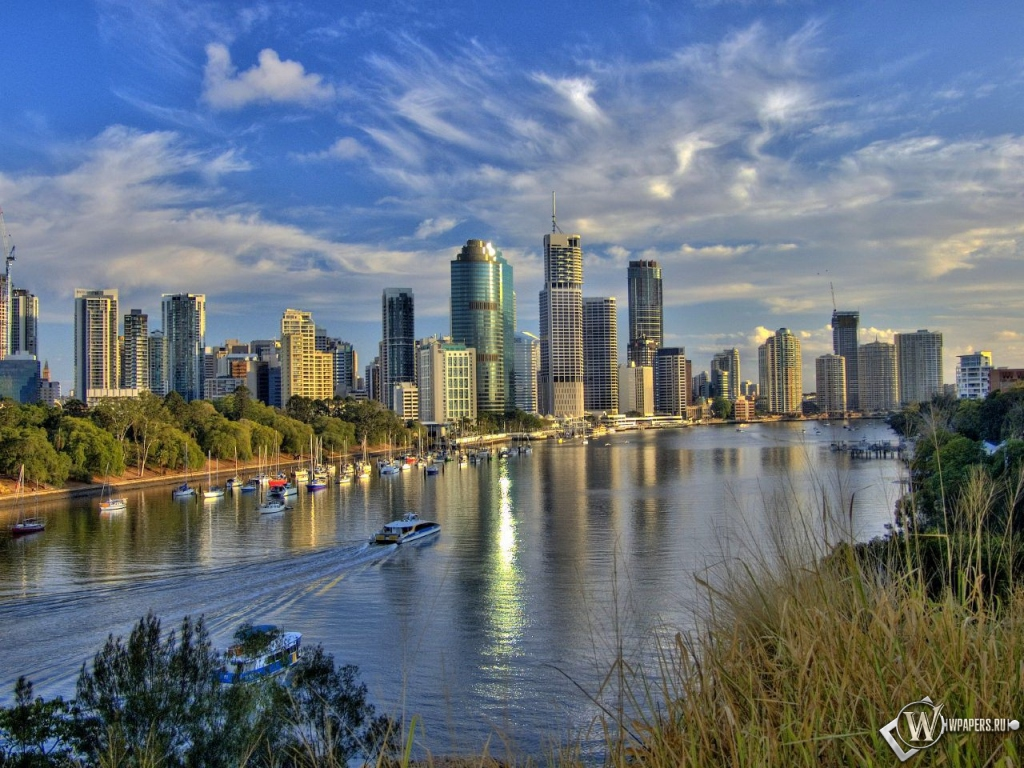 Обои австралия река австралия 1024x768