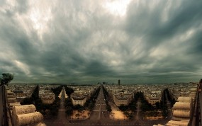 Обои Big City Life: Тучи, Большой город, Небо, Панорама, Прочие города
