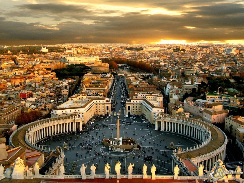 Город ватикан рим 1024x768 картинки