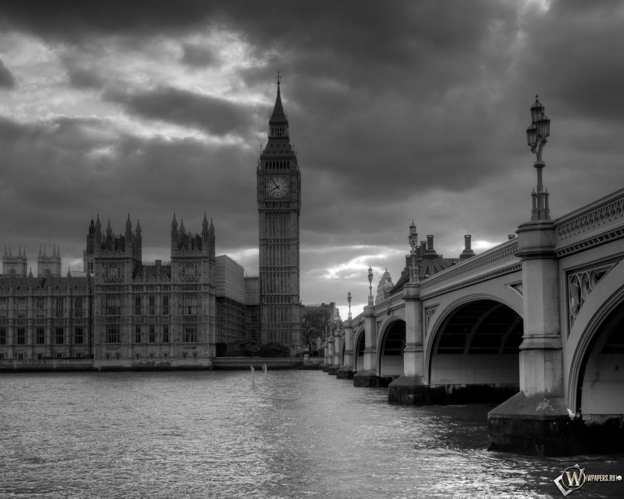 Обои лондон башня часы лондон 1280x1024