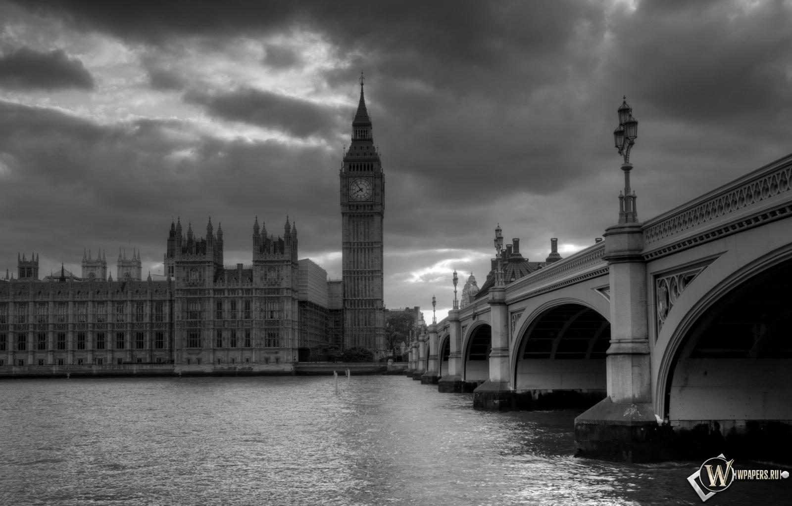 Обои лондон башня часы лондон 1600x1024