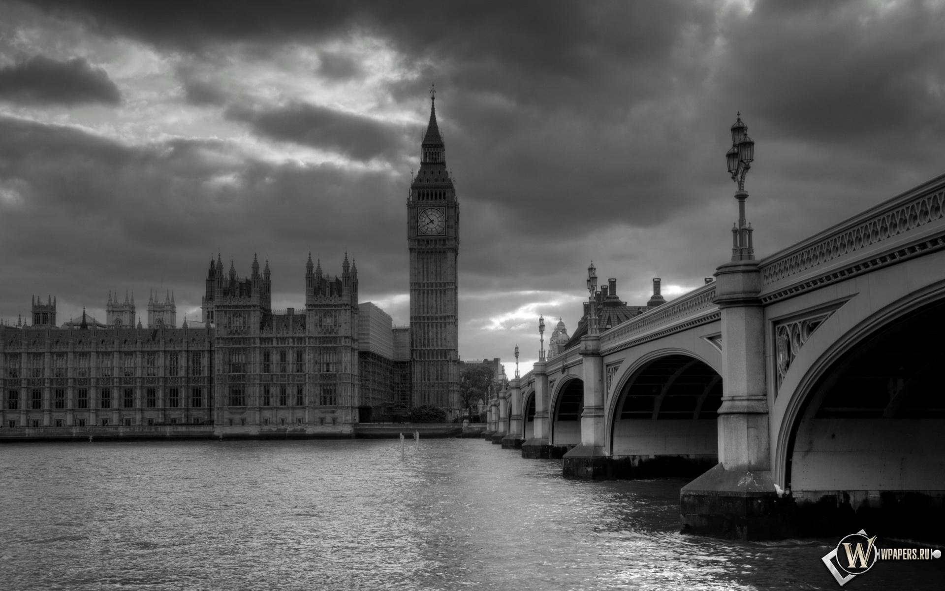 Обои лондон башня часы лондон 1920x1200