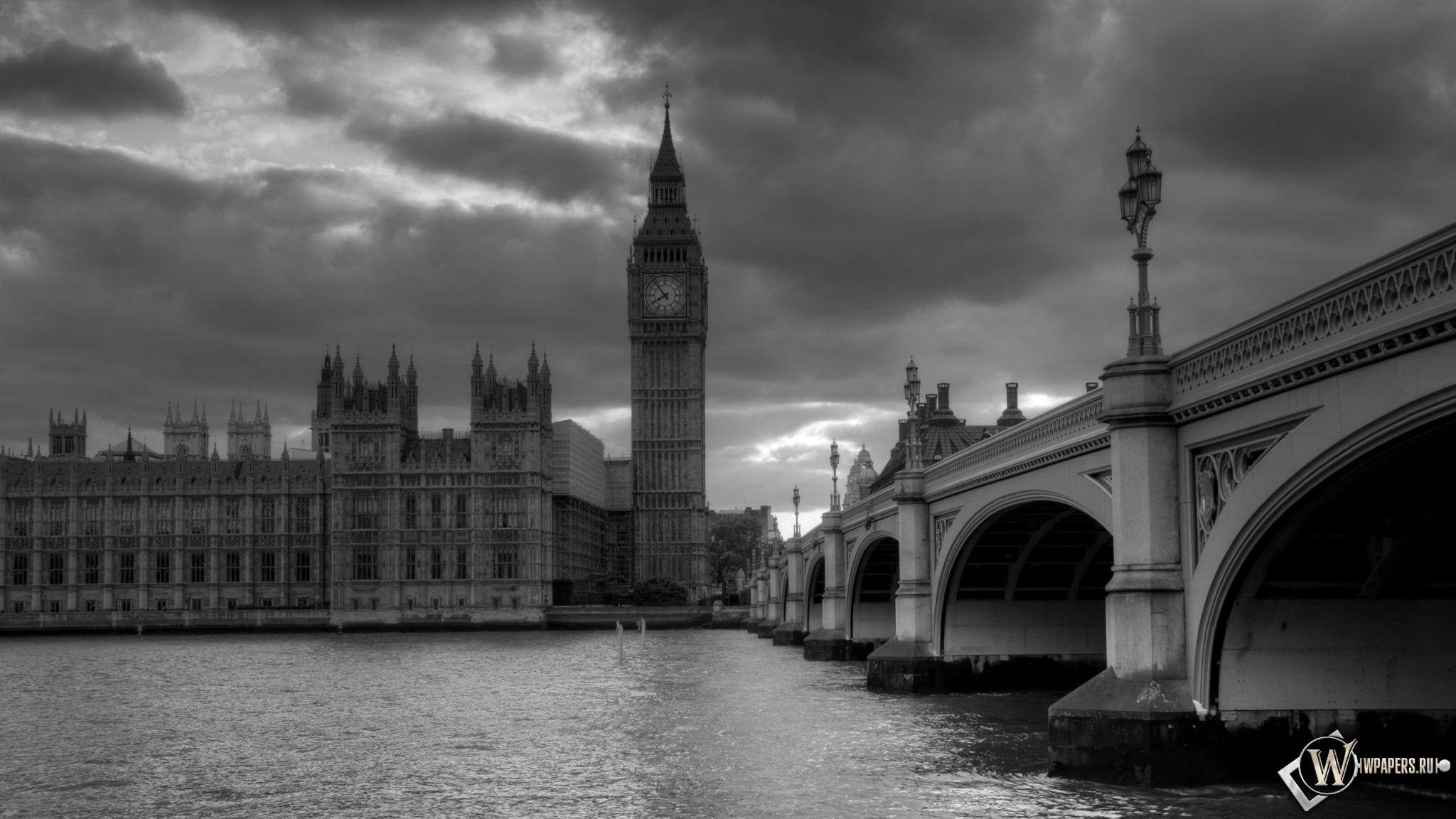 Обои лондон башня часы лондон 2048x1152