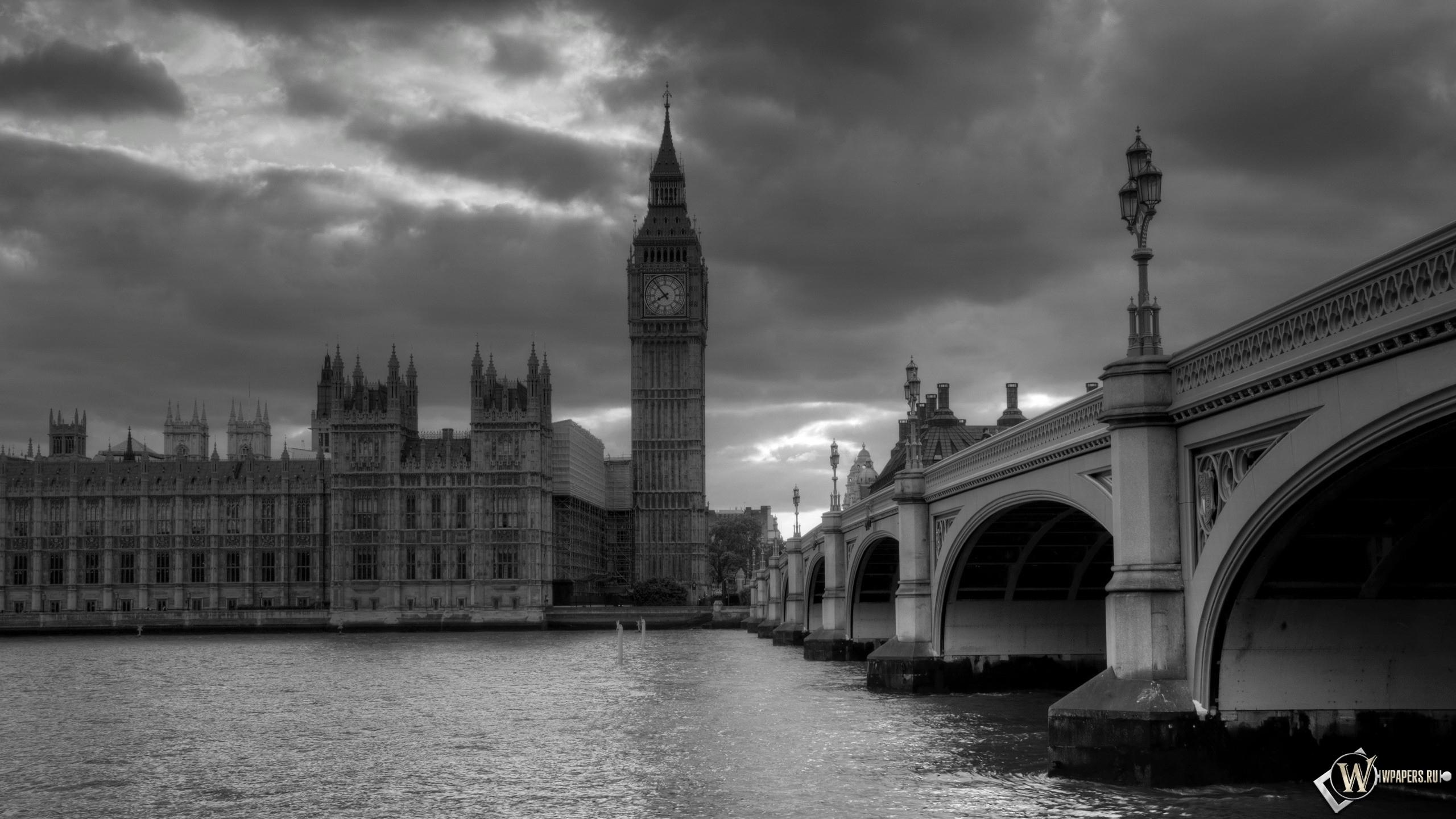 Обои лондон башня часы лондон 2560x1440