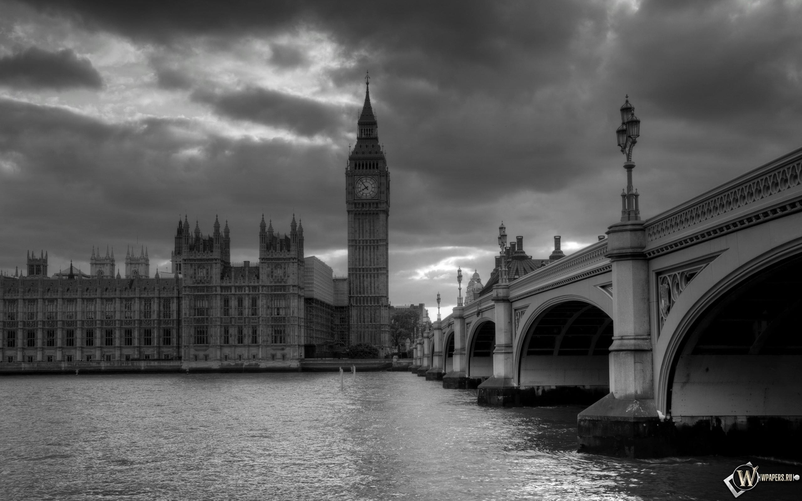 Обои лондон башня часы лондон 2560x1600