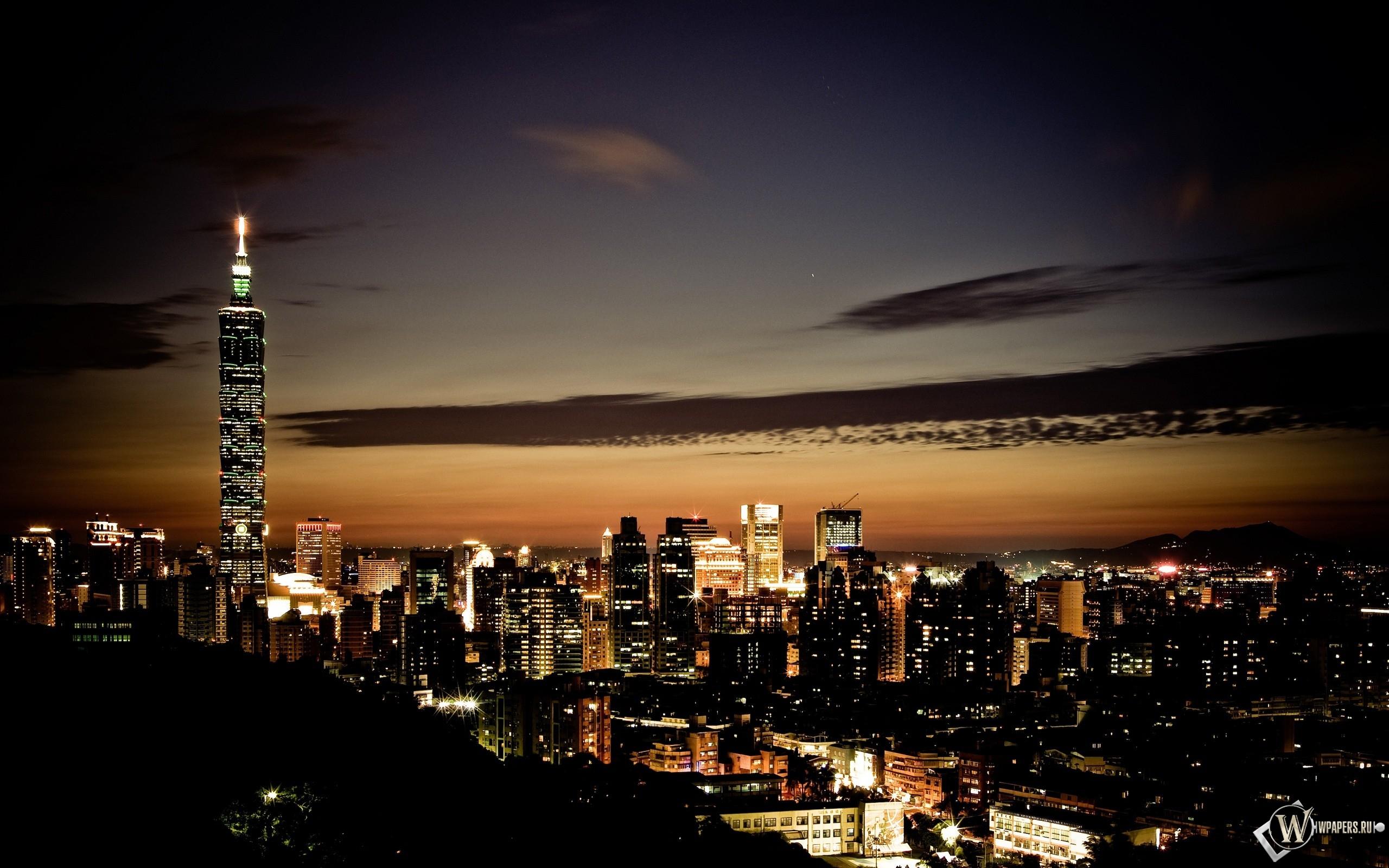 Ночной Тайбэй 2560x1600