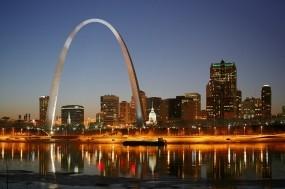 Обои St. Louis: Огни, Вода, Ночь, Сент-Луис, Прочие города