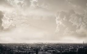 Обои Облака над Парижем: Облака, Город, Париж, Париж