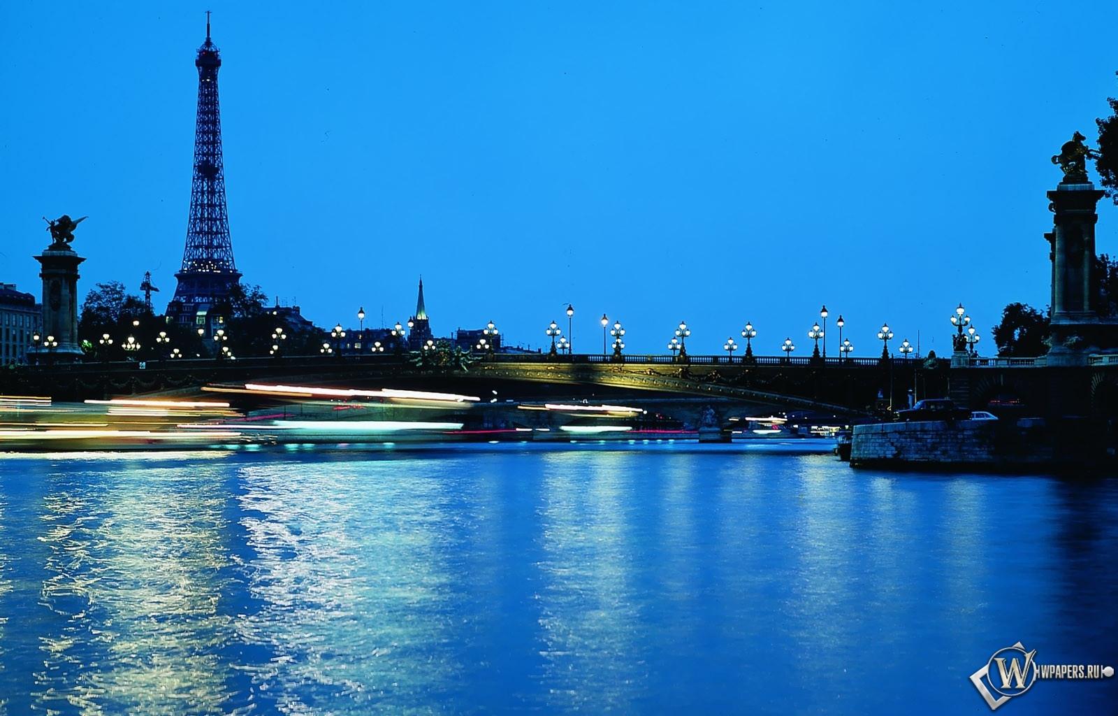 Обои париж ночью на рабочий стол с