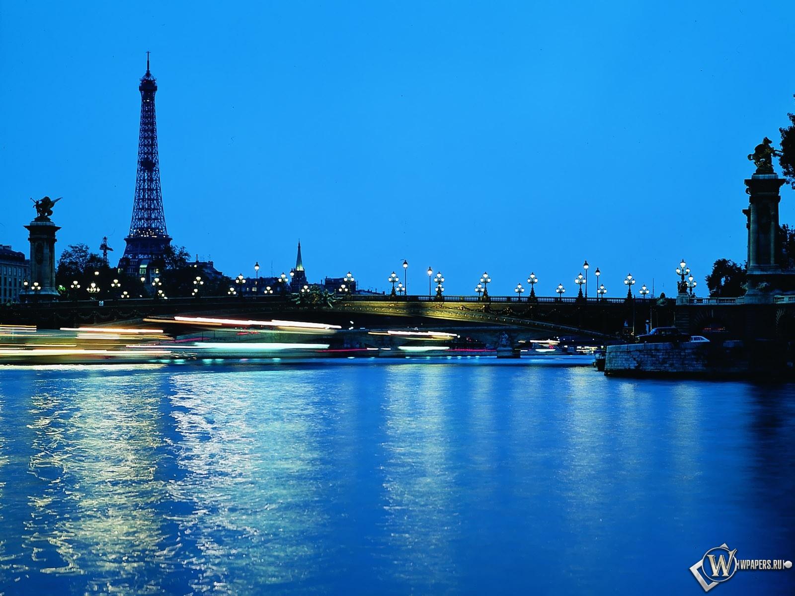 Париж ночью 1600x1200