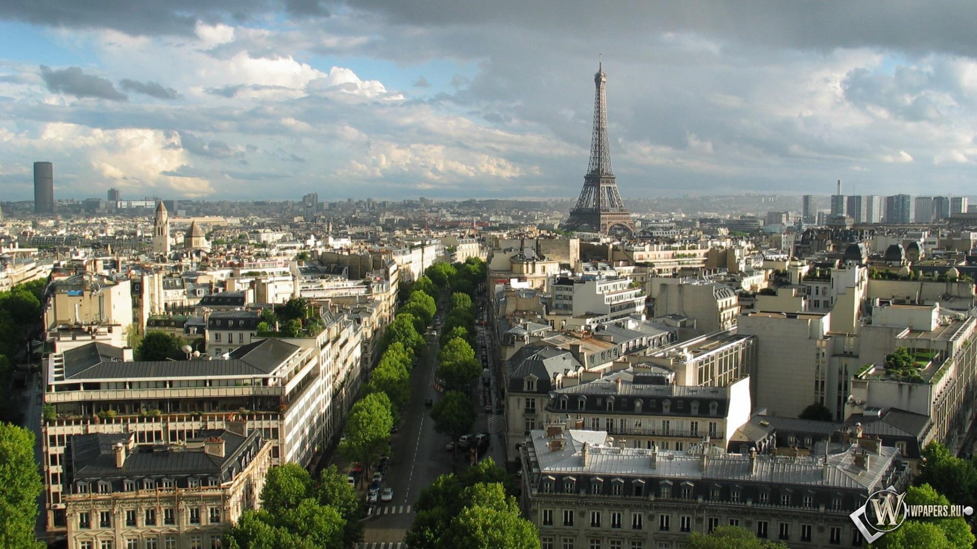 Обои париж франция париж эйфелева