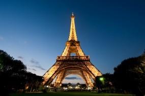 Обои Эйфелева башня: Вечер, Париж, Эйфелева башня, Города