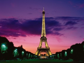 Обои Эйфелева башня: Париж, Эйфелева башня, Освещение, Париж