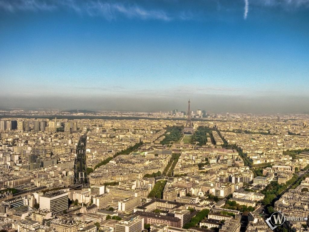 Обои париж город панорама париж