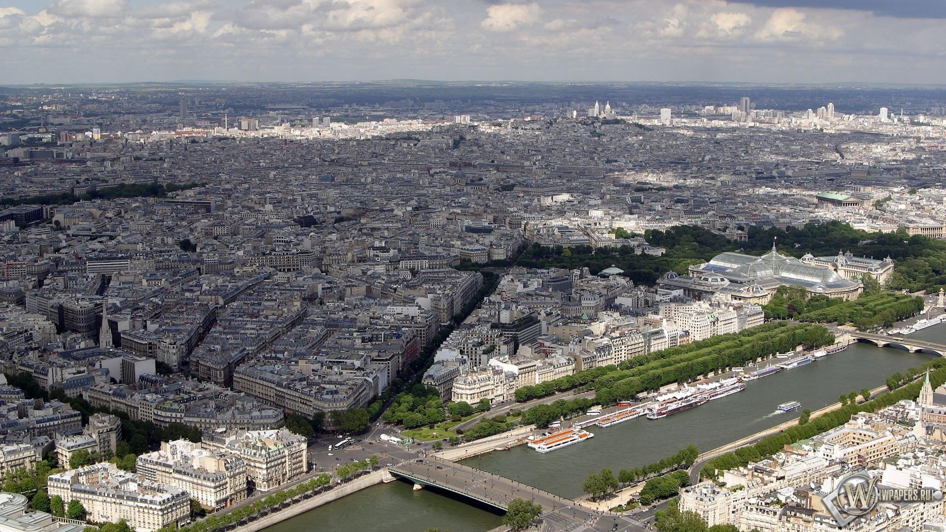 Обои париж город дома париж 1920x1080