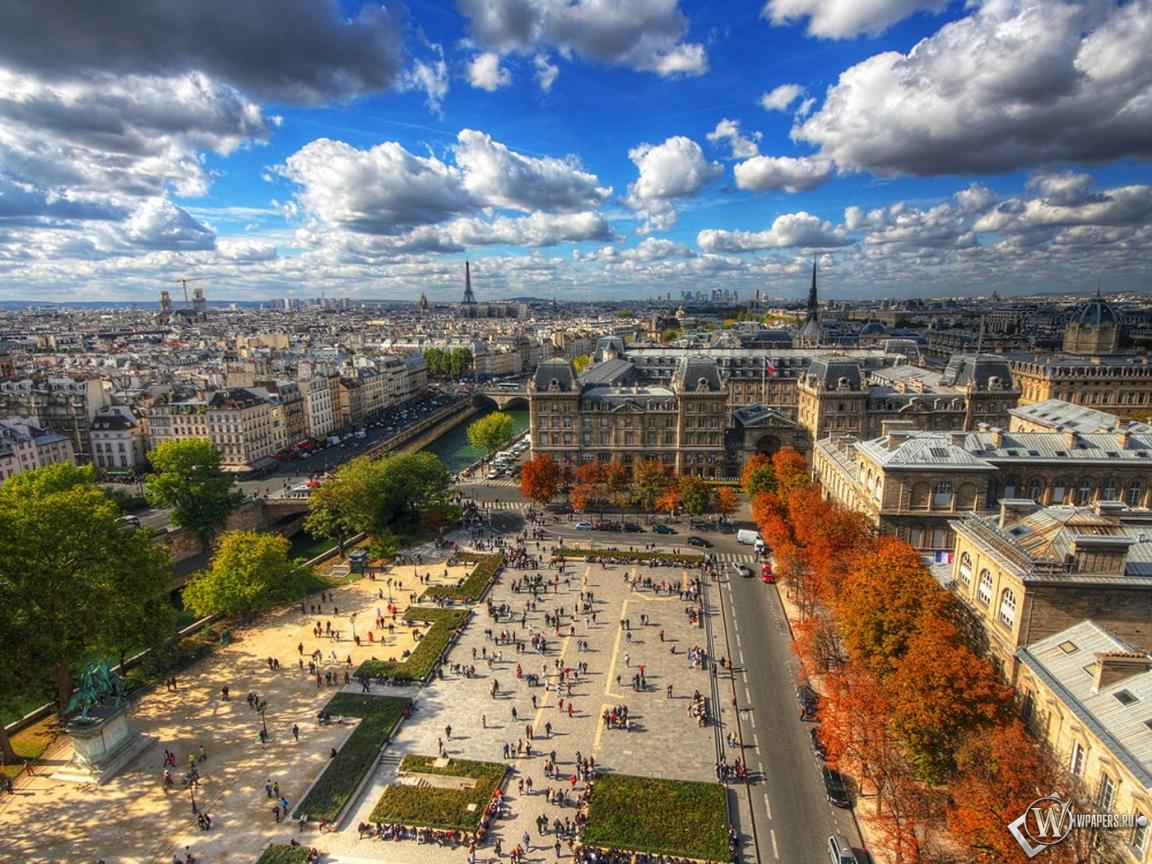 Обои париж мегаполис париж 1152x864
