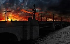 Обои Мост в Санкт-Петербурге: Мост, Ночь, Санкт-Петербург, Санкт-Петербург