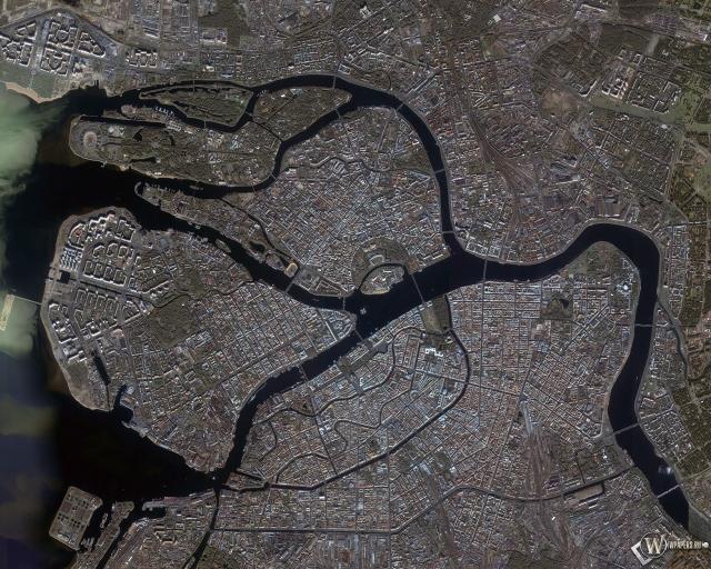 Питер Город со спутника