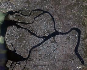 Обои Питер Город со спутника: , Санкт-Петербург