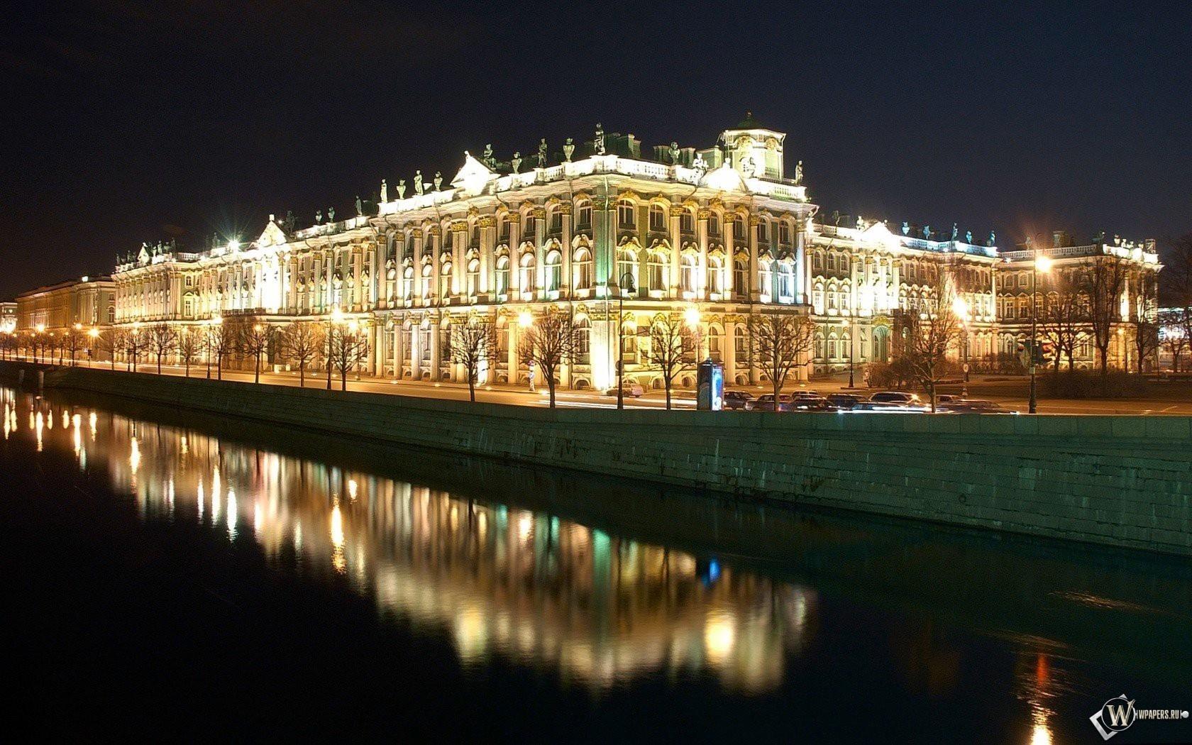 Ночной город санкт петербург 1680x1050