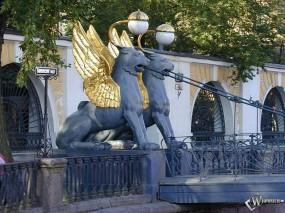 Обои Банковский мост, Санкт-Петербург: Санкт-Петербург, Мостик, Грифоны, Санкт-Петербург