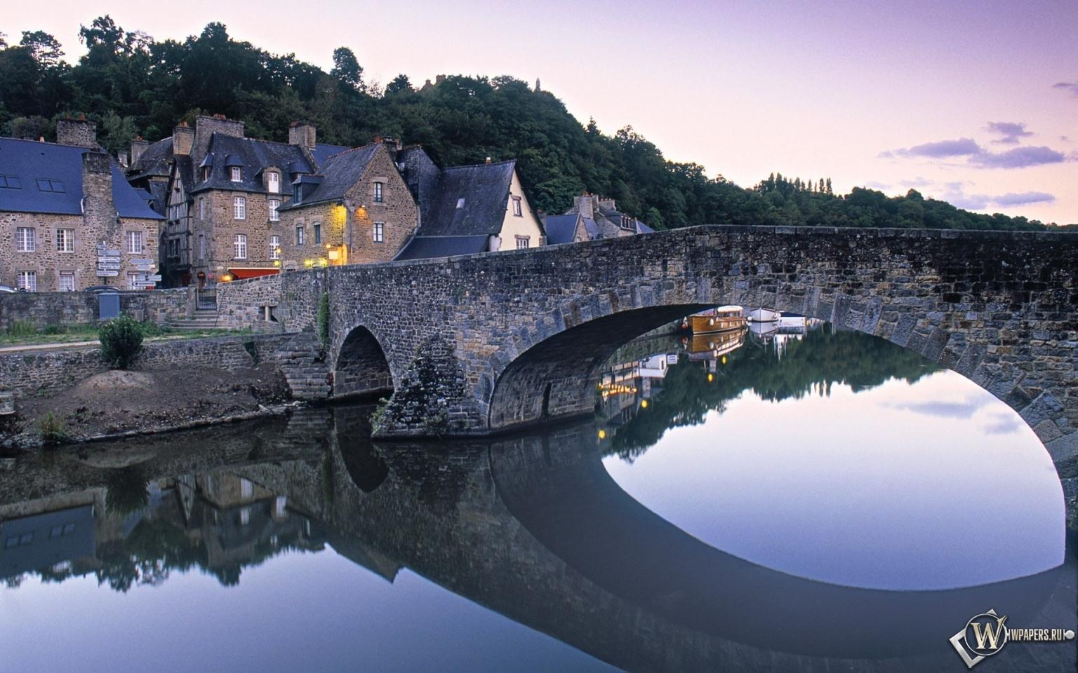 Мост франция дома 1536x960 картинки