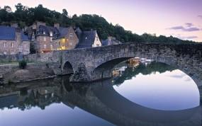 Обои Мост во Франции: Река, Мост, Франция, Дома, Города и вода