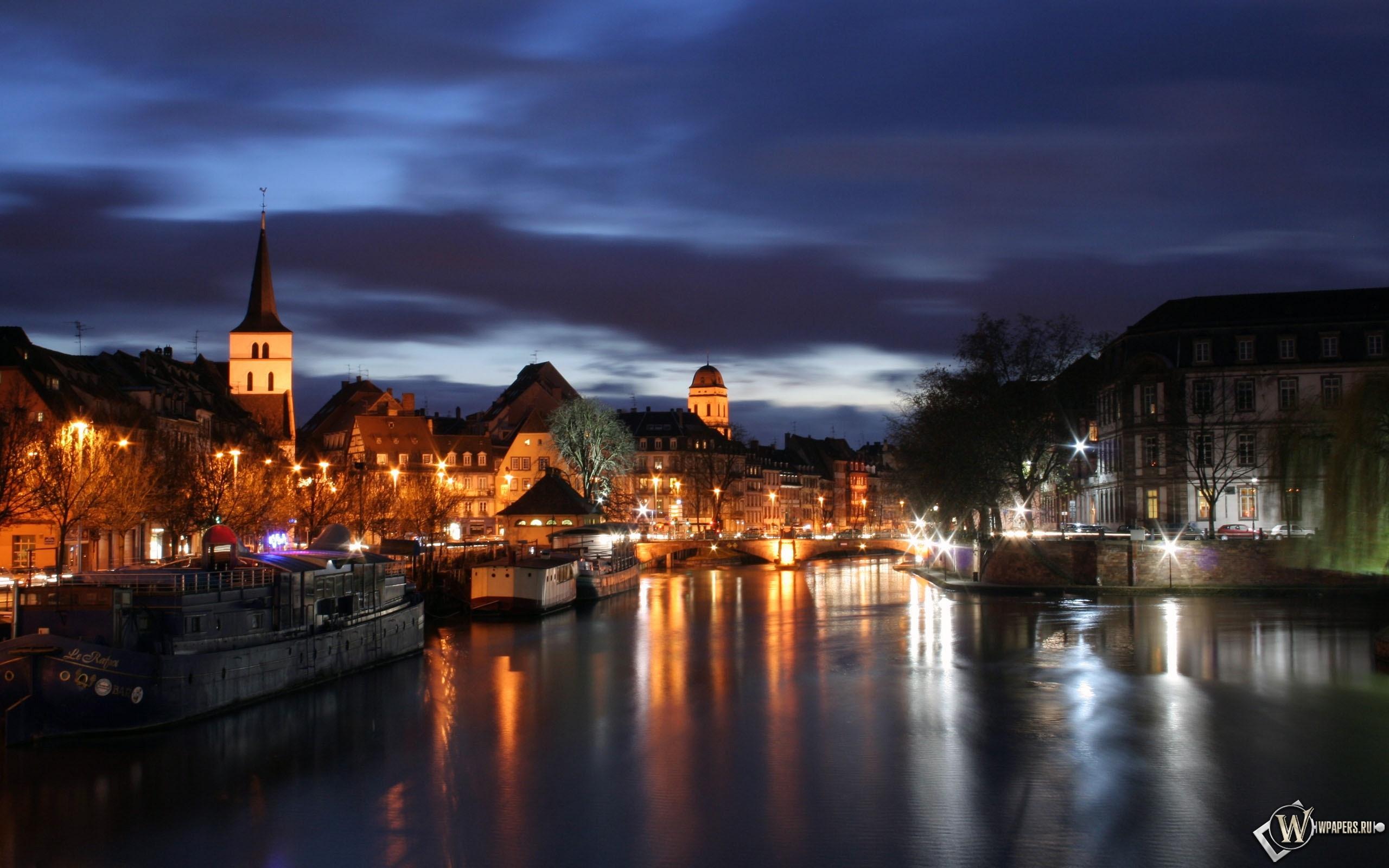 Страсбург вечером 2560x1600